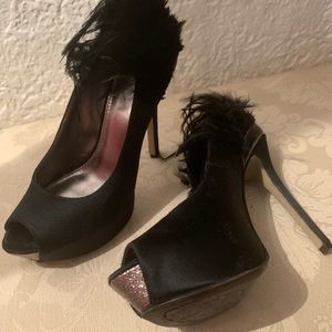 Enzo Angellini stiletto black open toe pump